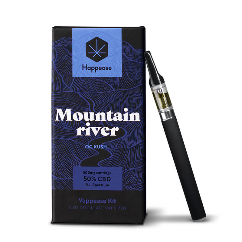 Happease® Classic - Mountain River 50% CBD vaping pen