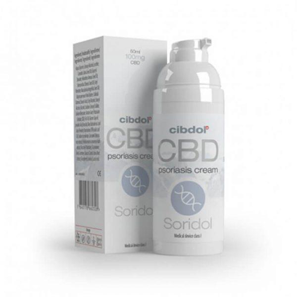 Cibdol - Soridol Psoriasis Cell Growth 100mg CBD cream (50ml)