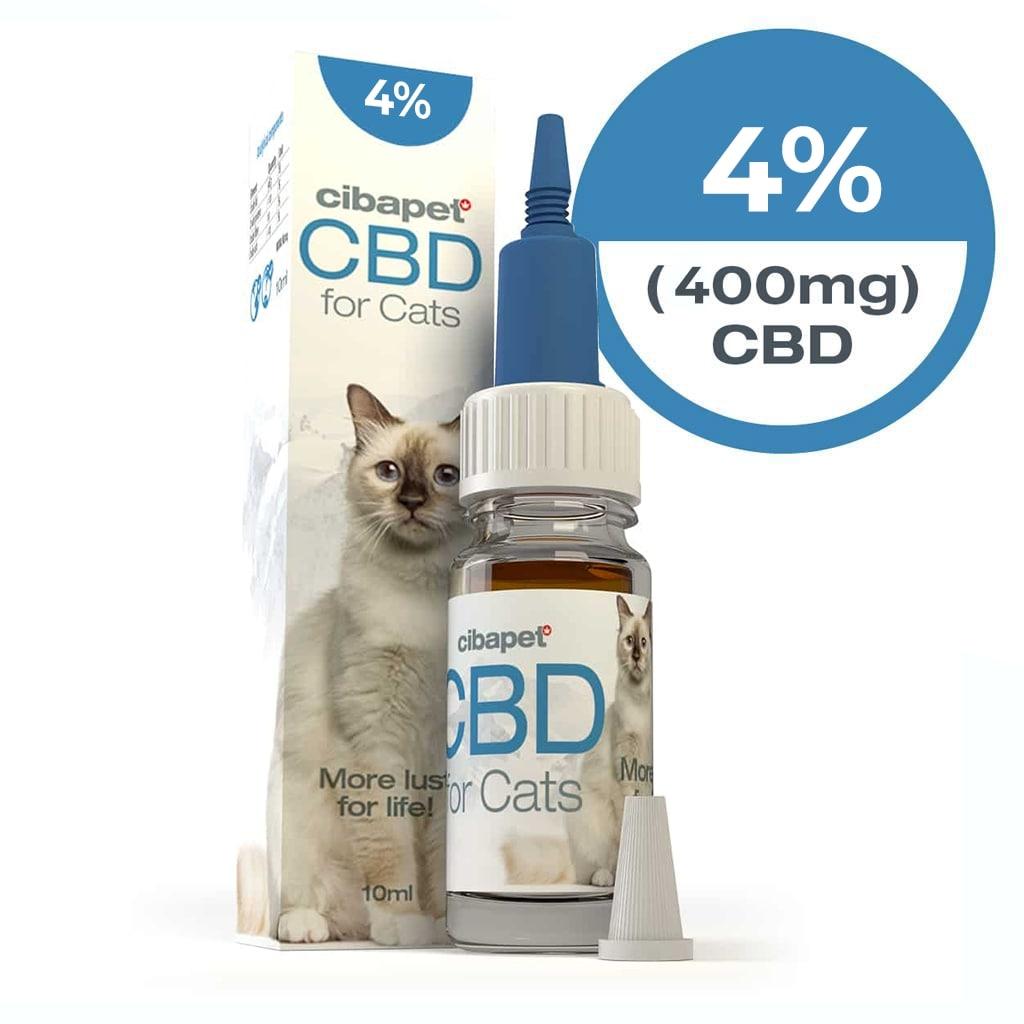Cibapet 4% CBD oil for cats (400mg CBD)