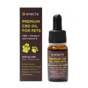 Enecta 5% 500mg CBD Oil for Pets with Omega 3 and Vitamin E (10ml)